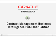 CDP Oracle Primavera Contract Management Business Intelligence Publisher Edition
