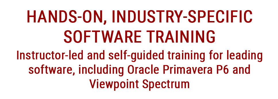 Software Training for Oracle Primavera P6 and Spectrum Construction Accounting