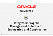 CDP Oracle Primavera Integrated Program Management Solution for Engineering and Construction